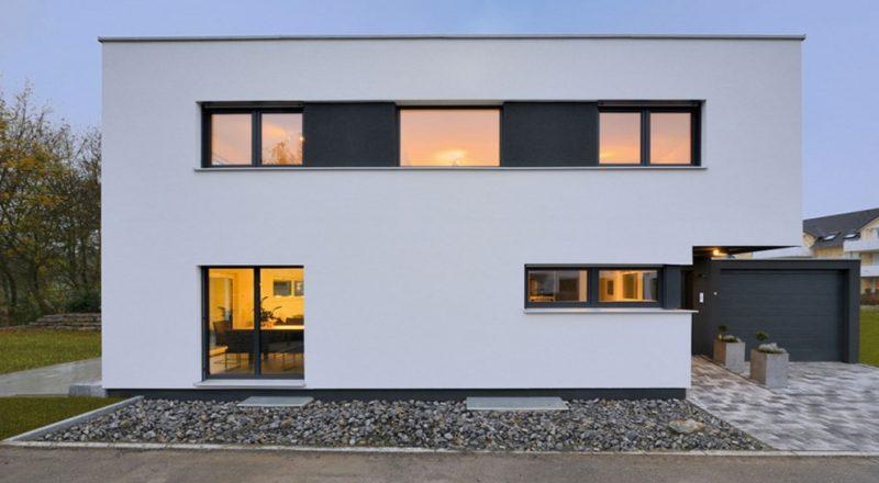 Kleine Fertighäuser moderne Fassade