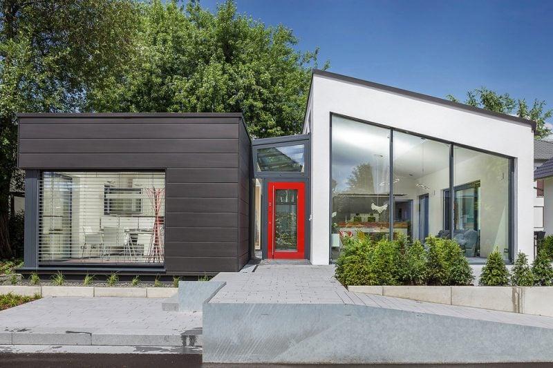 Kleine Fertighäuser moderne Fassade Beispiele