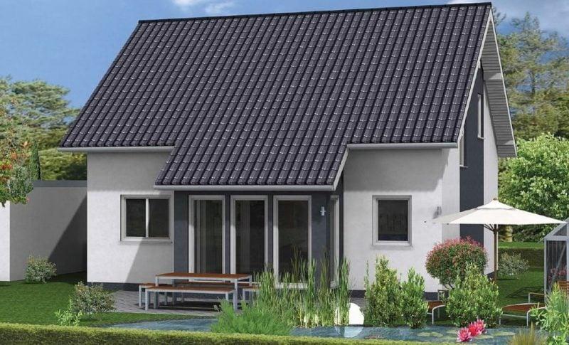 Kleine Fertighäuser mit typisch deutscher Architektur