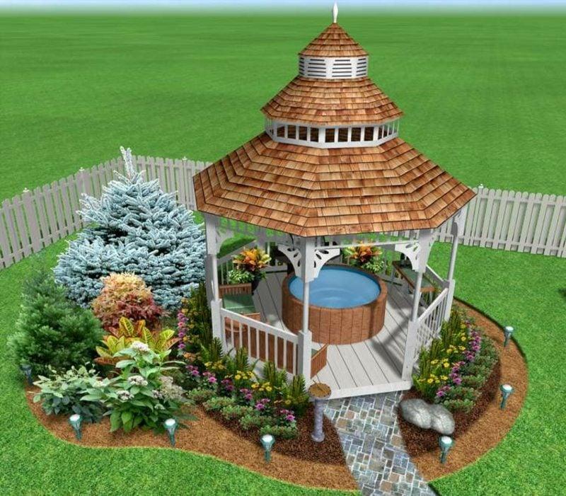 3D online Gartenplaner Pergola