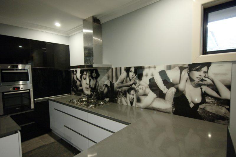 Küchenrückwand günstig Schwarz-Weiß