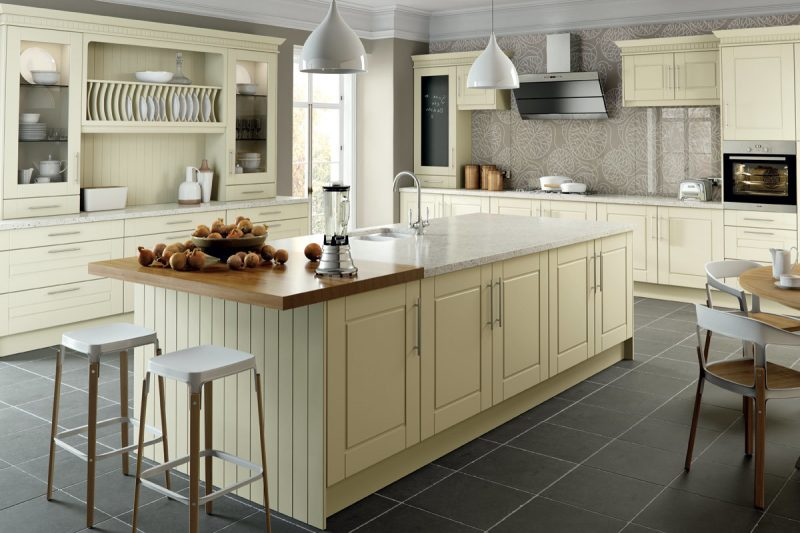 Küchenplatten zwei Arten von Materialien