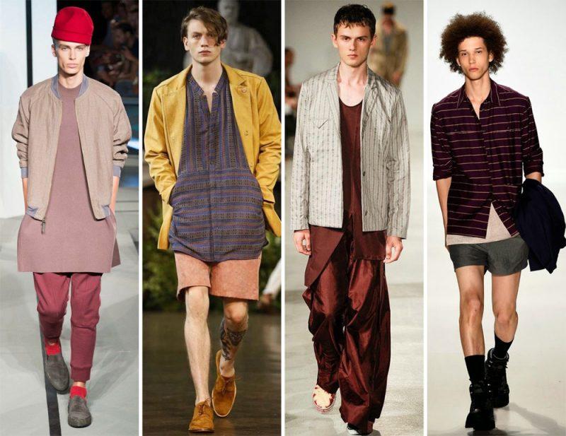 Männerfrisur 2015 die auf Fashion Week angezeigt wird, bleibt lange ein Trend