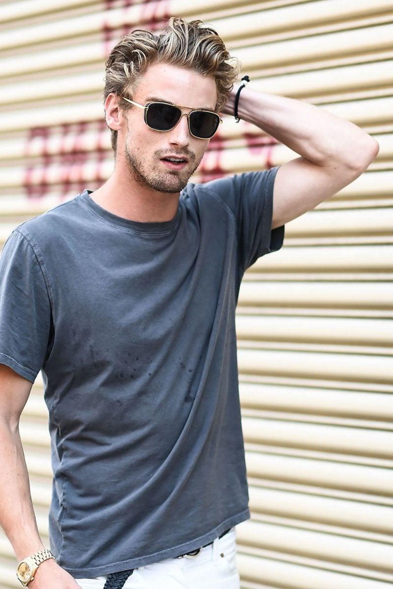 Männerfrisur 2015 von dem Top-Model RJ King