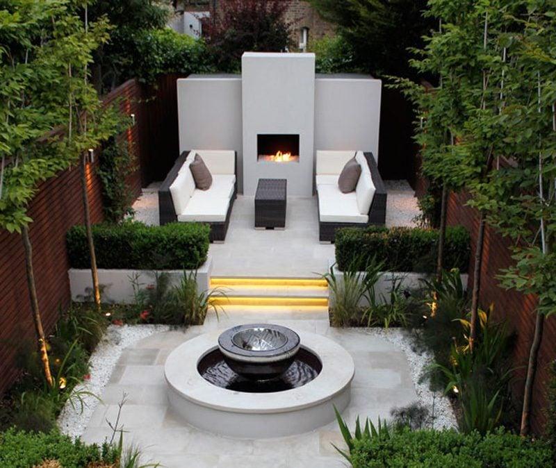 Moderne Gartengestaltung Erholungsbereich