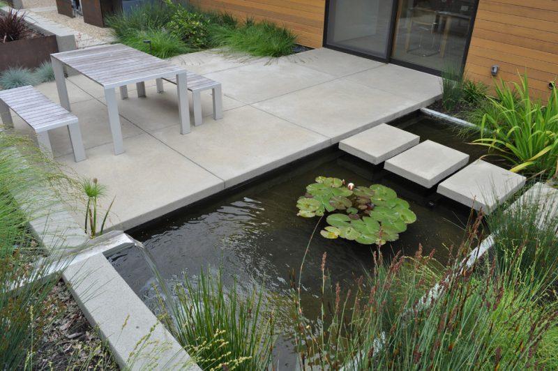 Moderne Gartengestaltung Gartenteich