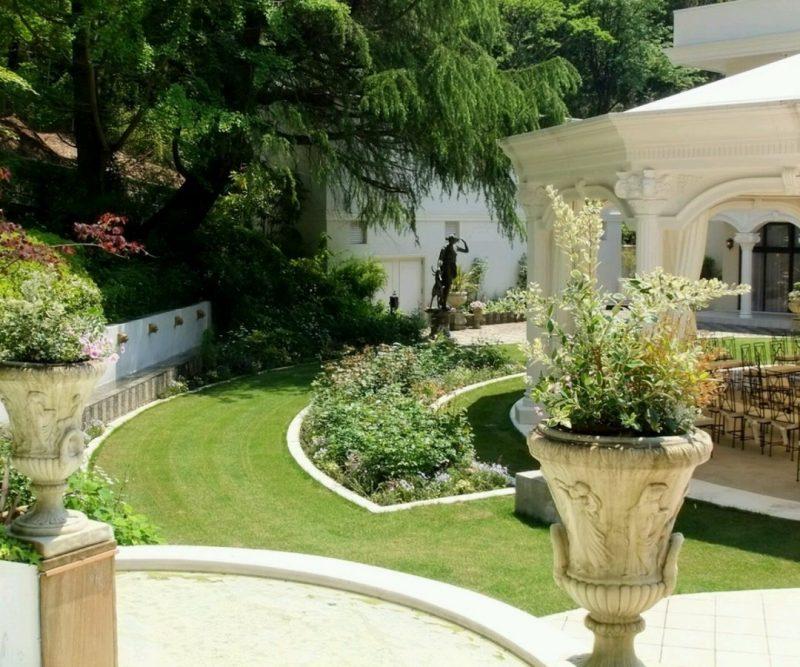 Moderne Gartengestaltung japanischen Stil