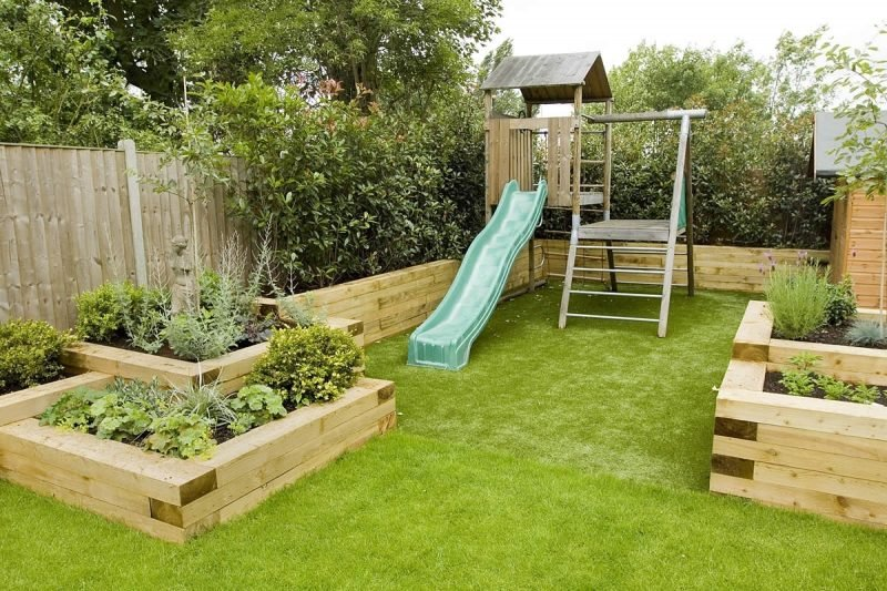 Moderne Gartengestaltung Kinderecke