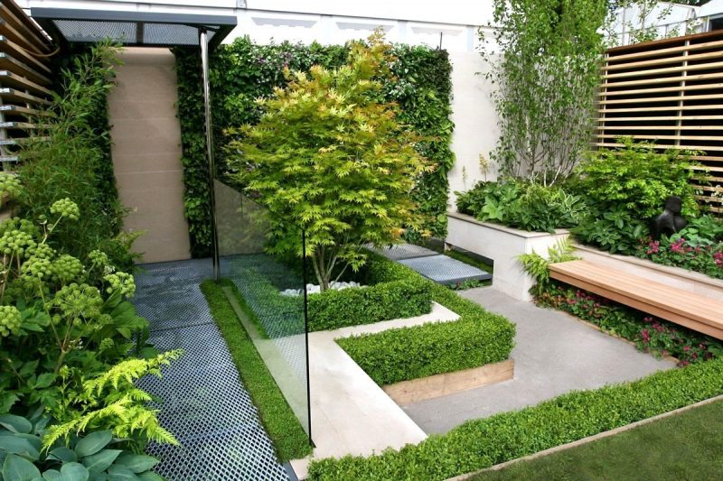Moderne Gartengestaltung vertikaler Garten