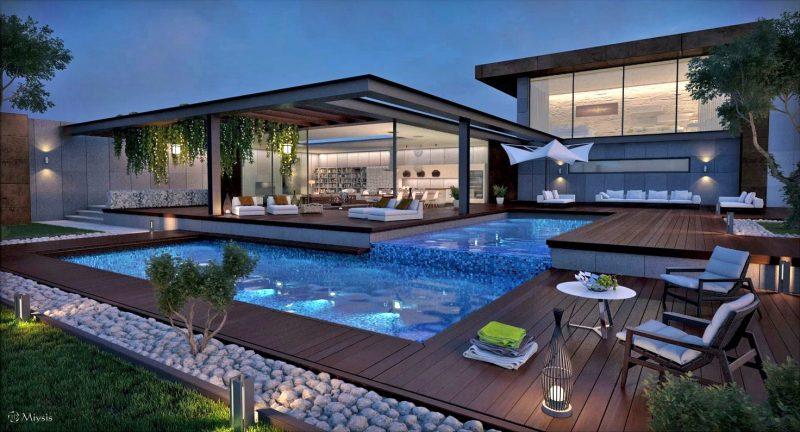 Moderne Gartengestaltung Schwimmbad Oase