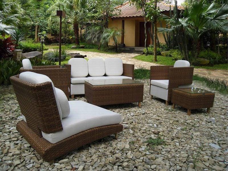 Moderne Gartengestaltung Steinboden