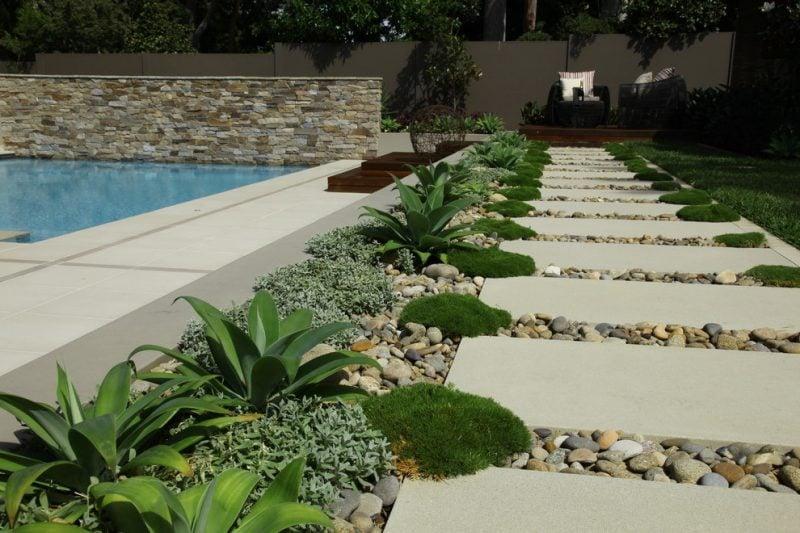 Moderne Gartengestaltung Steingarten