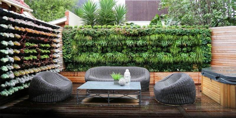 Moderne Gartengestaltung mit vertikalen Gärten