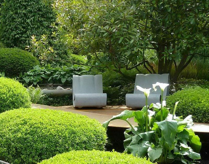 Perfekt Moderne Gartengestaltung Mit Viel Gräser