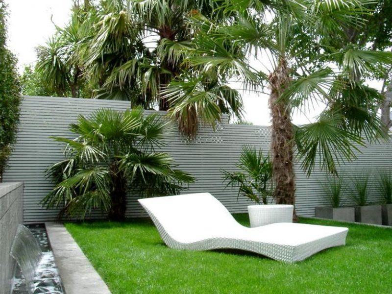 Moderne Gartengestaltung exotischen Hauch