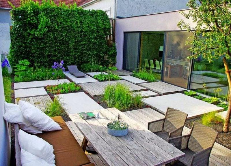 Moderne Gartengestaltung Sitzeke