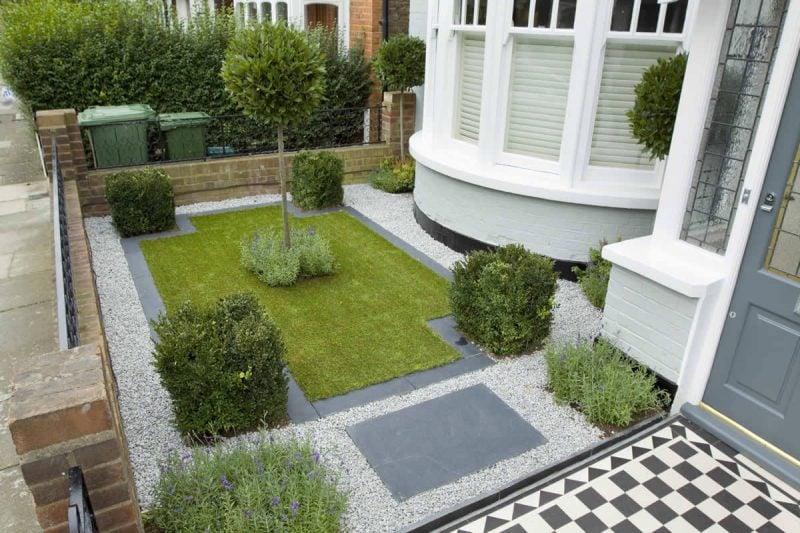 Moderne Gartengestaltung mit Kies