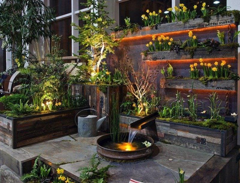 Moderne Gartengestaltung Bachlauf