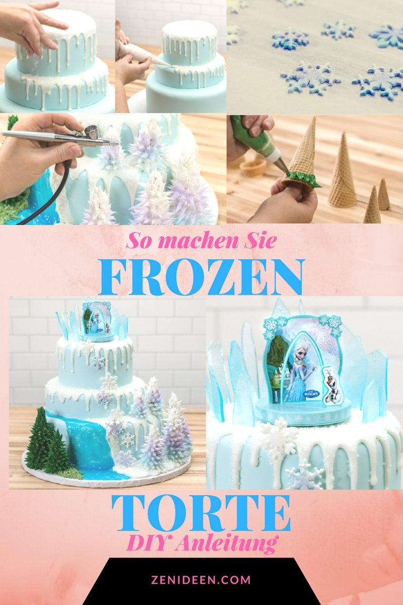 motivtorten selber machen frozen torte anleitung diy zenideen. Black Bedroom Furniture Sets. Home Design Ideas