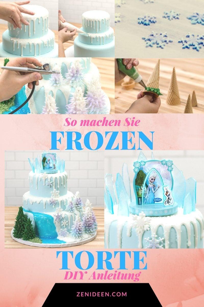 Frozen Motivtorten selber machen: Anleitung