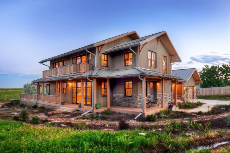 Ökohaus kann auch modern wirken
