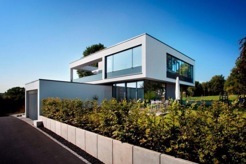 Ökohaus mit moderner Fassade