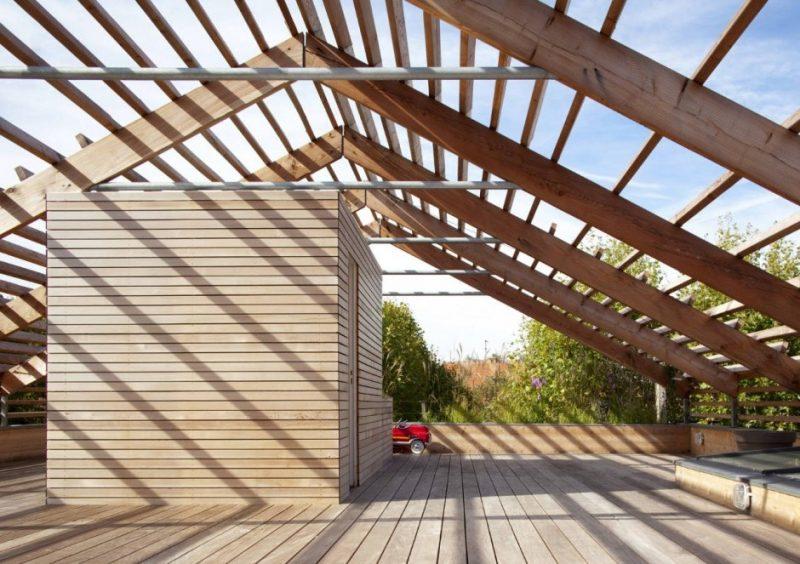 Ökohaus mit moderner Architektur