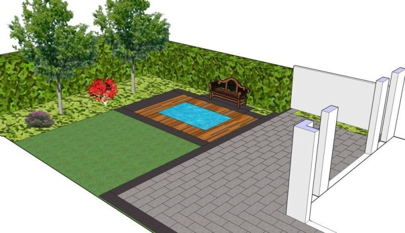 online Gartenplaner 2D schematische Darstellung