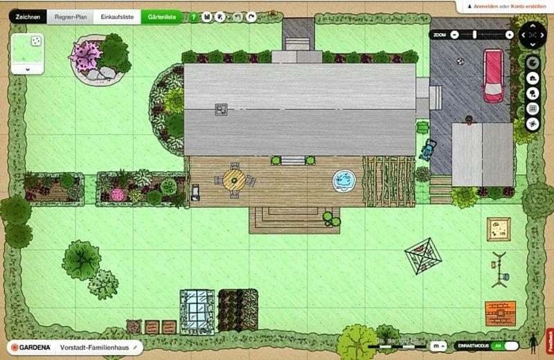 Gardena kostenloser online Gartenplaner