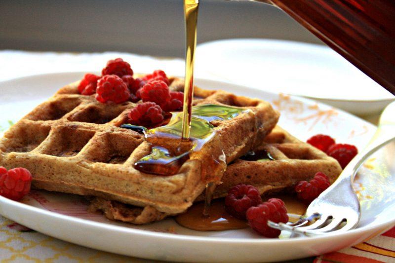 Rezept belgische Waffeln mit Honig