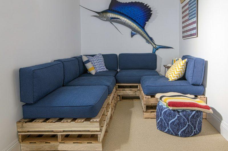 Sofa aus Europaletten für Wohnzimmer