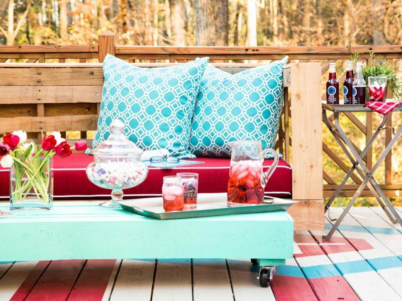 Sofa aus Europaletten DIY Ideen