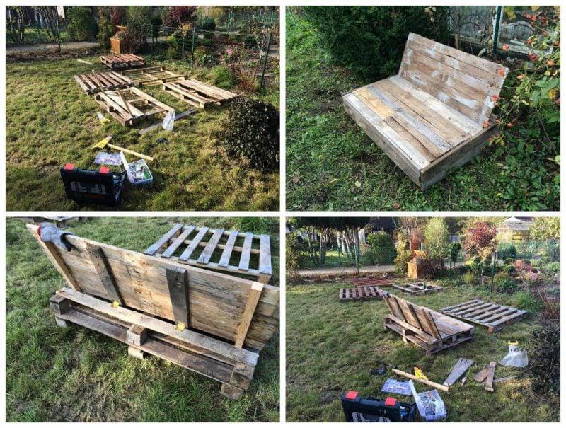 Sofa aus Europaletten DIY Projekt