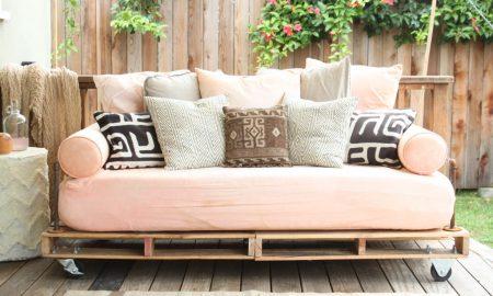 Sofa aus Europaletten Anleitung