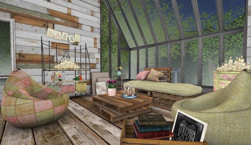 Sofa aus Europaletten für Wohnzimmer im industriellen Stil