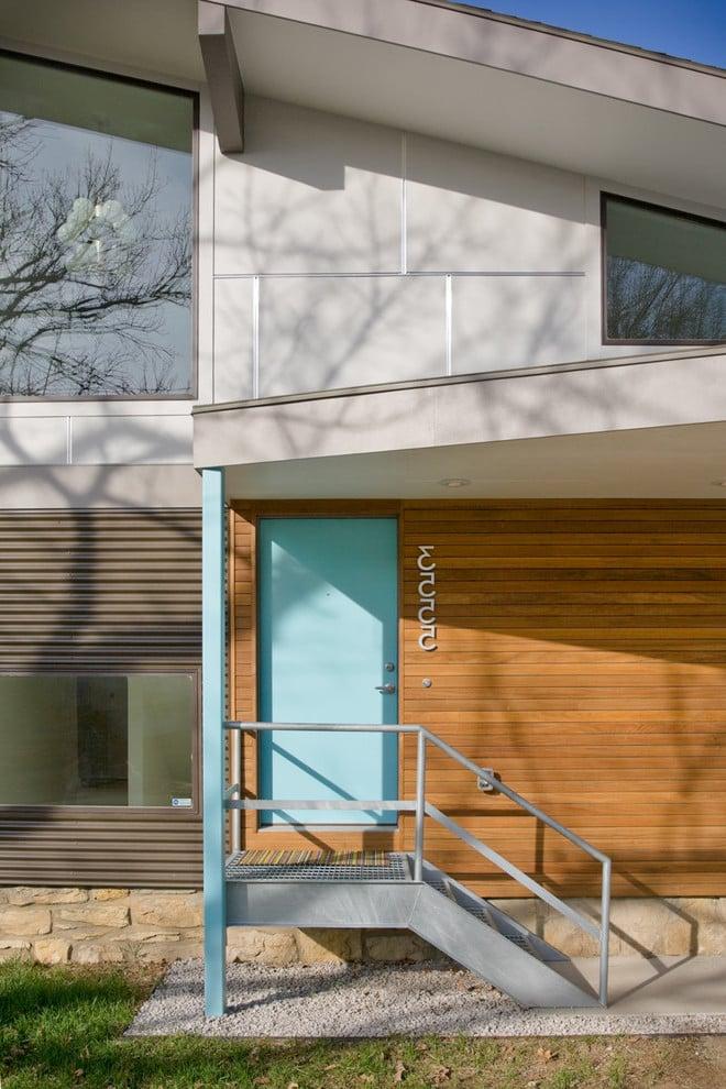 Stahltreppen außen modern Design