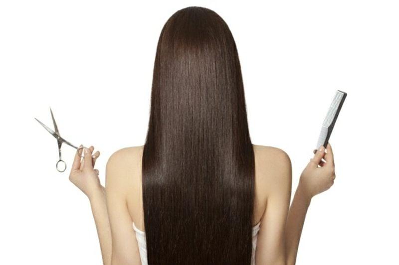 lange Haare nach den Mondphasen schneiden lassen