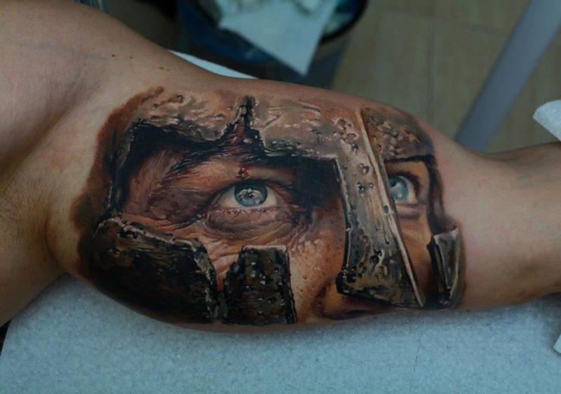 Tattoobilder Gesichter von Samohin