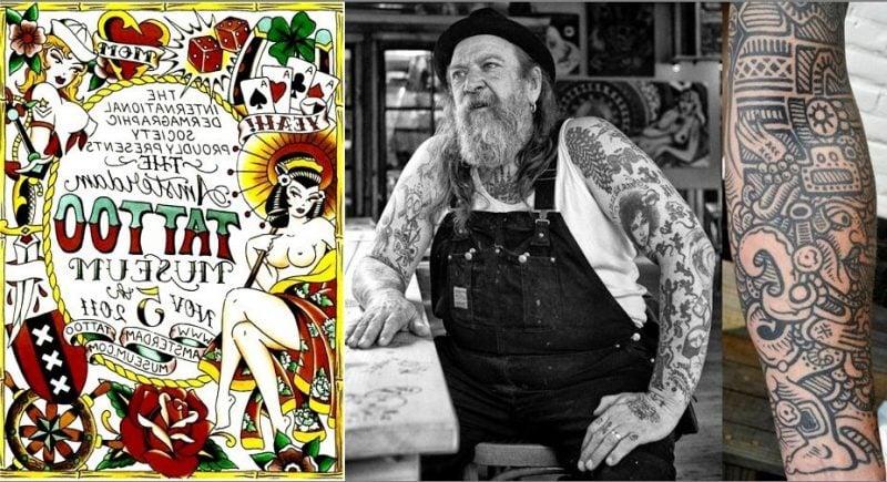 Tattoobilder von Henk Schiffmacher in Amsterdam Tattoo Museum