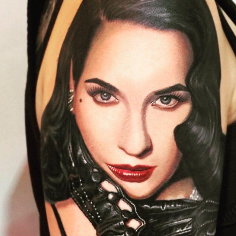 Tattoobilder von Gesichtern