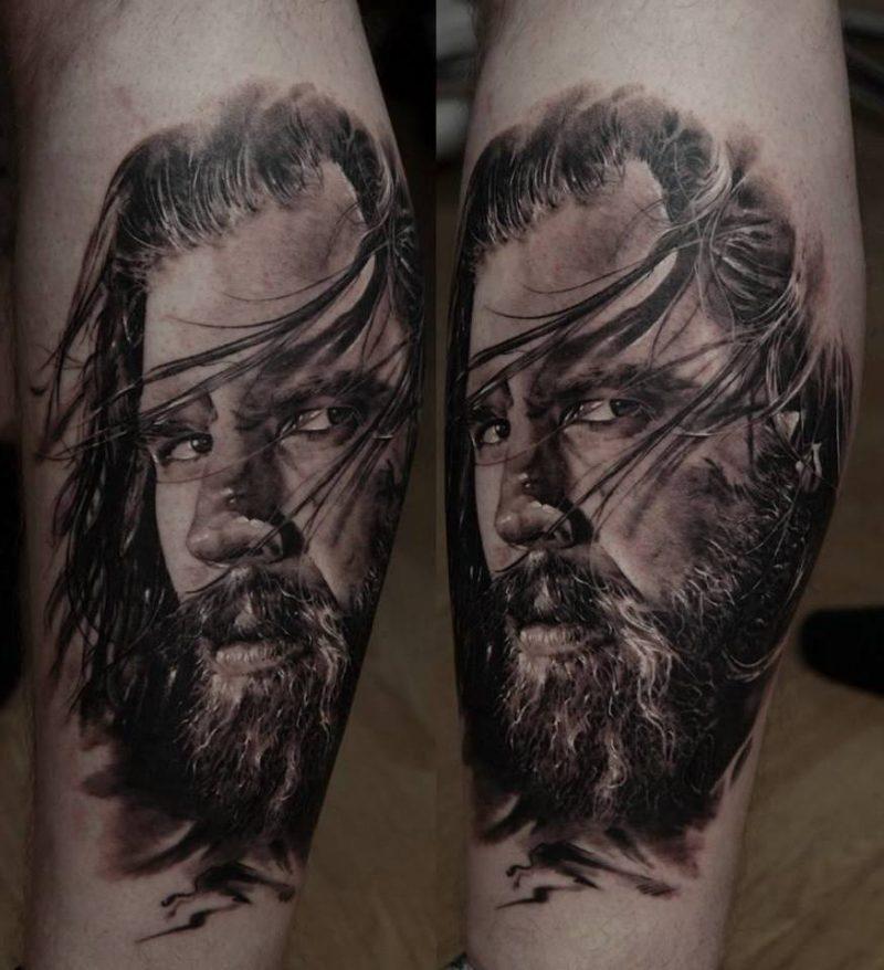 Tattoobilder in Schwarz-Weiss