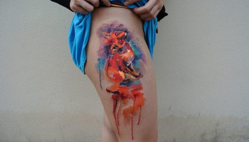 Aquarell Designs Tattoobilder