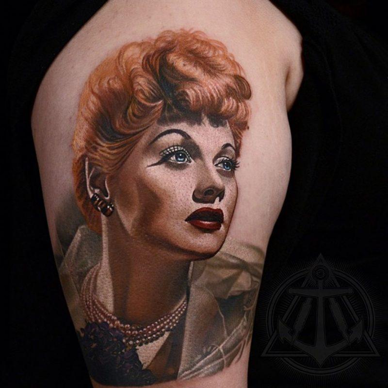 Tattoobilder Porträts von Hurtado
