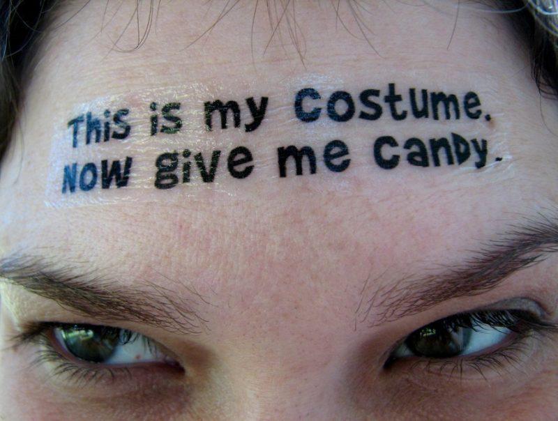 Tattoovorlage Halloween Temporäre Tattoos auf Gesicht