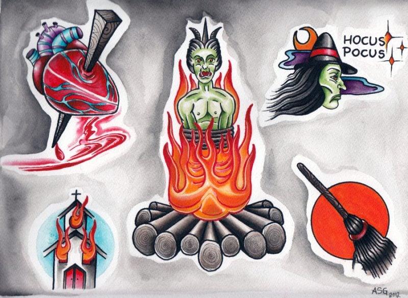 Tattoovorlage Halloween Ablösbar