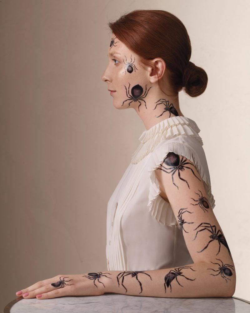Tattoovorlage Helloween Spinnen