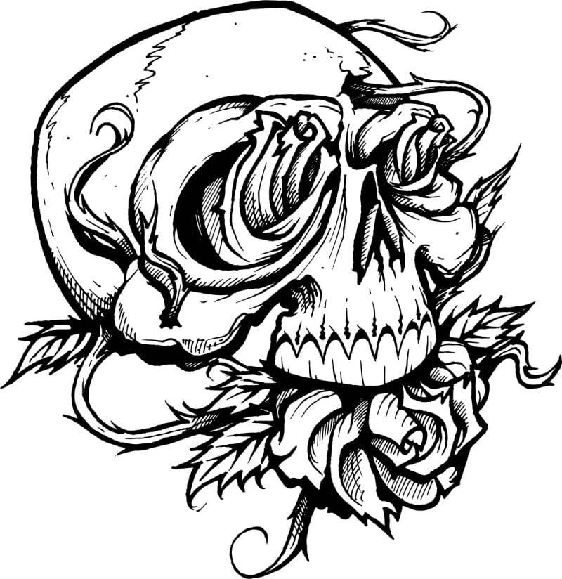 Tattoovorlage Halloween temporäre Tattoos