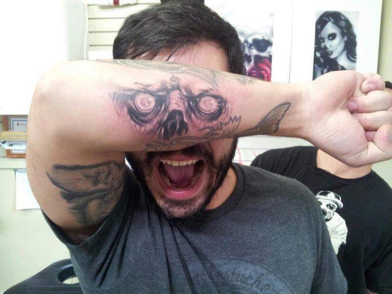 Tattoovorlage Halloween wie Maske