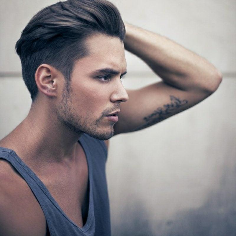 Herrenfrisuren 2014 mittellange Haare, gestylt nach hinten