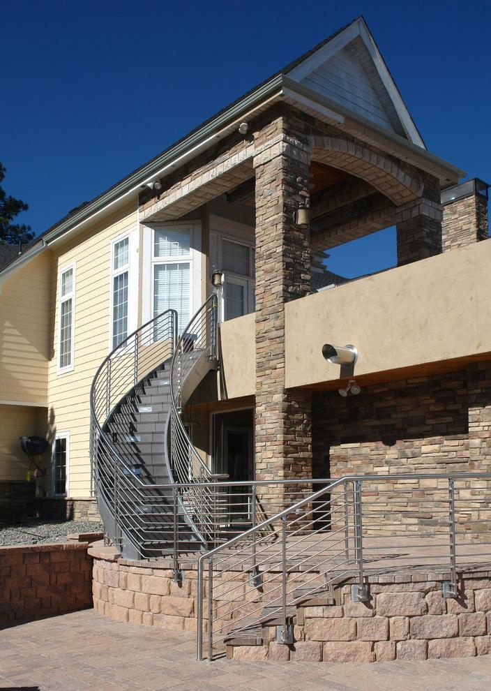 Treppengeländer selber bauen -gewickelte Formen